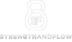 Strength and Flow logo in white